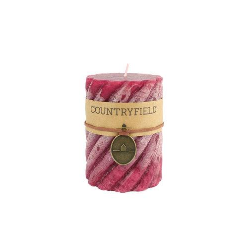 Countryfield Countryfield Stompkaars met ribbel Paars Ø7 cm | Hoogte 15 cm
