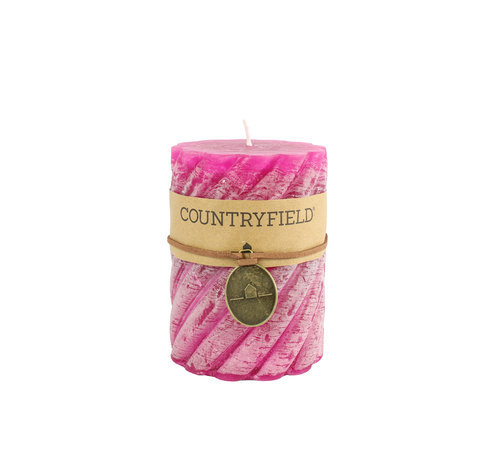 Countryfield Countryfield Stompkaars met ribbel Fuchsia Ø7 cm | Hoogte 7,5 cm