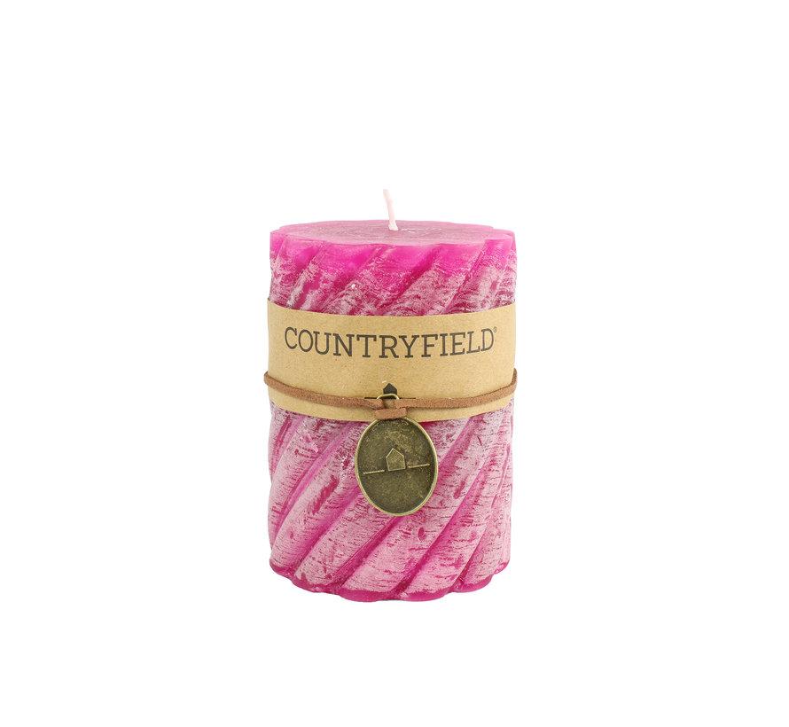 Countryfield Stompkaars met ribbel Fuchsia Ø7 cm | Hoogte 7,5 cm