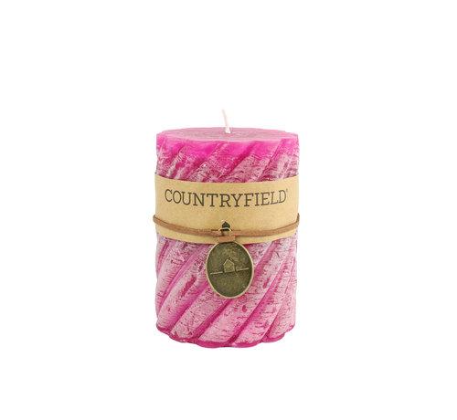 Countryfield Countryfield Stompkaars met ribbel Fuchsia Ø7 cm | Hoogte 10 cm