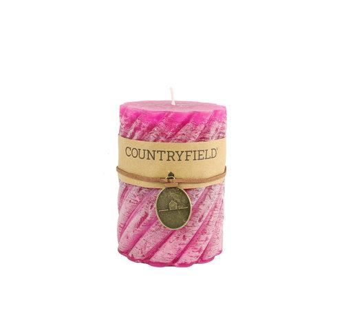 Countryfield Countryfield Stompkaars met ribbel Fuchsia Ø7 cm | Hoogte 15 cm