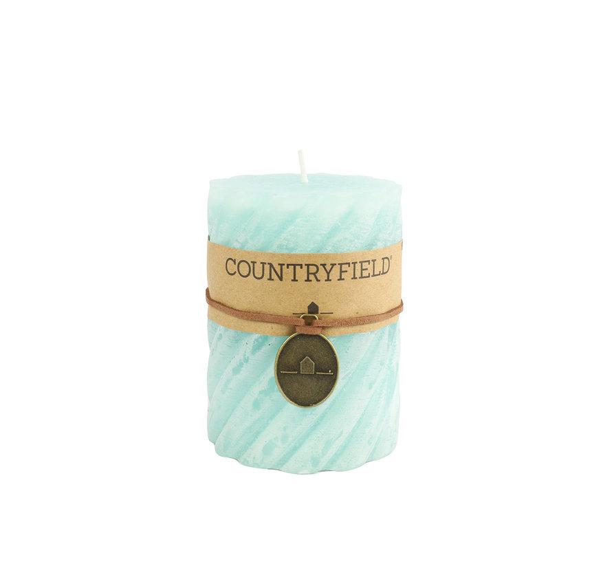 Countryfield Stompkaars met ribbel Turquoise Ø7 cm | Hoogte 10 cm