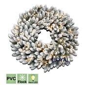 Royal Christmas Christmas wreath Chicago 150 cm - snow - Warm White LED