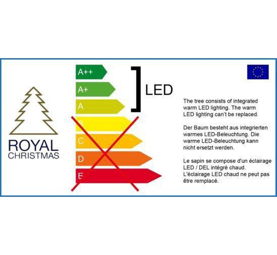 Royal Christmas® Kerstkrans Washington Ø150 cm   Inclusief LED