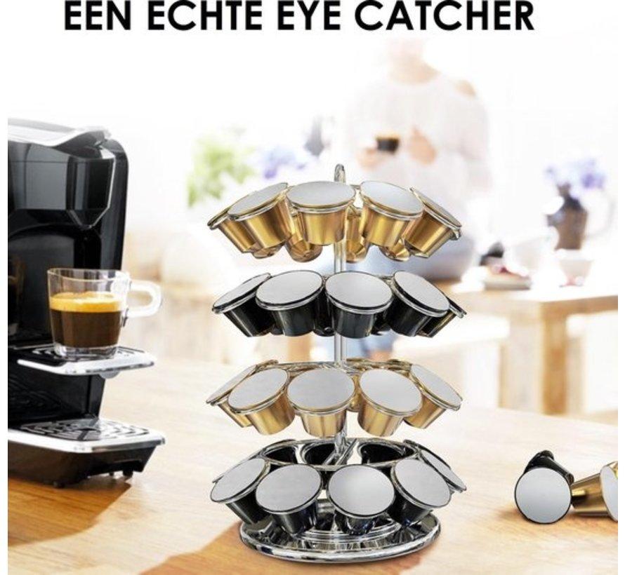 Nespresso® capsulehouder voor 40 cups   360° draaibaar