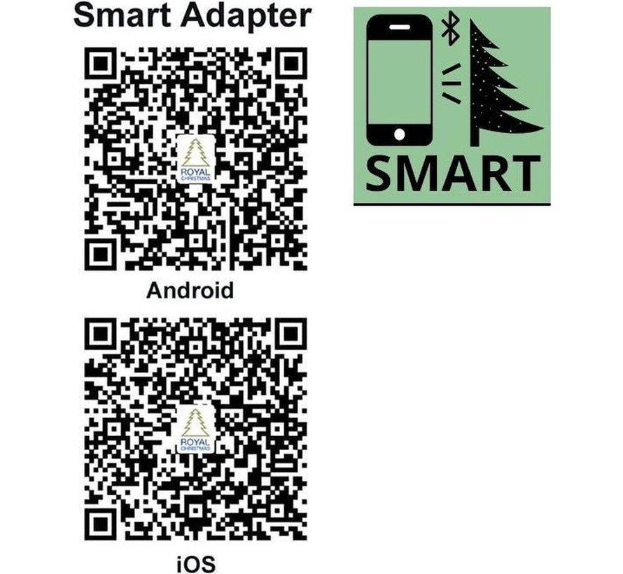 Kunstkerstboom Alaska Slank 240 cm met LED + Smart Adapter   Royal Christmas®