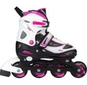 Nijdam Nijdam Junior Inline Skates - Adjustable - White / Black - size 30-33