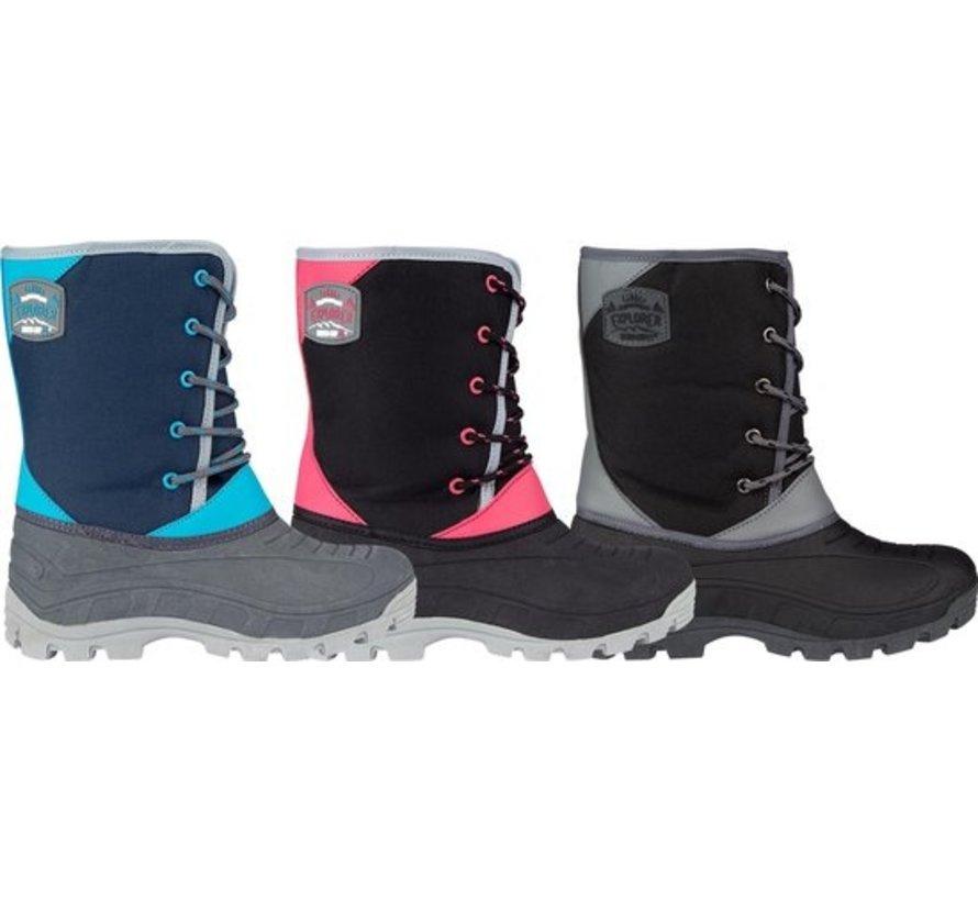 Grip Winter Schneeschuhe - Größe 29-30 - Unisex - schwarz / grau / pink