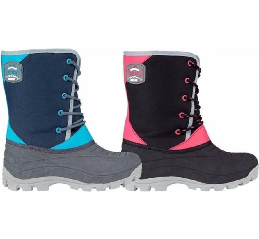 Wintergrip Snowboots - Maat 29-30 - Unisex - zwart/grijs/roze