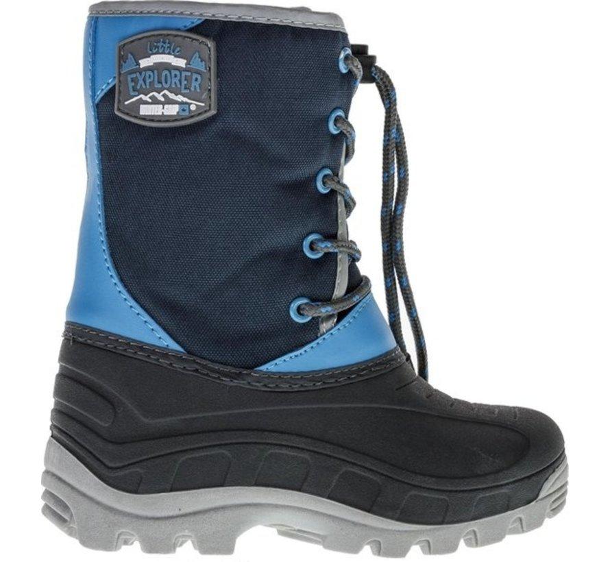 Wintergrip Snowboots - Maat 31-32 - Unisex - blauw/grijs