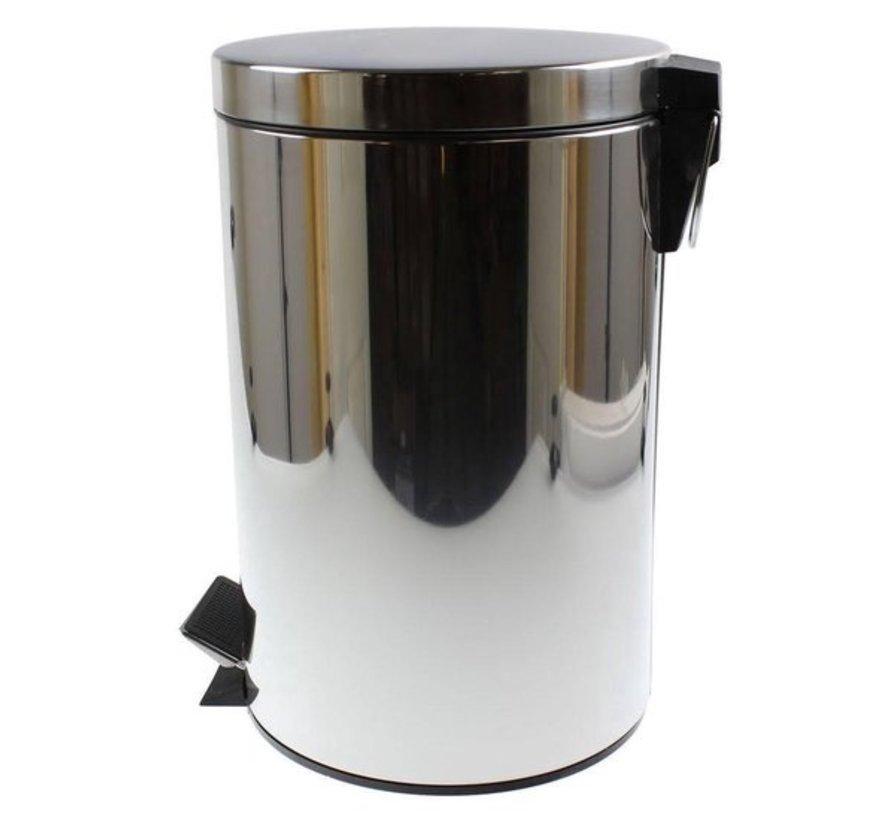 Pedaalemmer RVS 12 Liter incl binnenemmer
