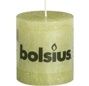 Bolsius Bolsius Rustic Pillar Candle 80x68 Green