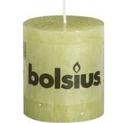 Bolsius Bolsius Rustiek Stompkaars 80x68 Groen