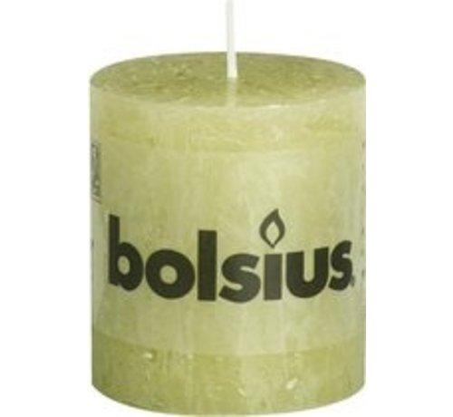Bolsius Rustiek Stompkaars 80x68 Groen