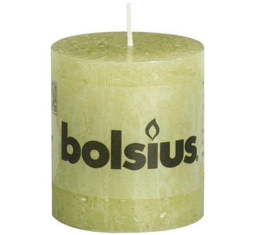 Bolsius Rustic Stumpenkerze 80x68 Grün