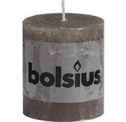 Bolsius Bolsius Rustic Pillar Candle - 80/68 - Taupe