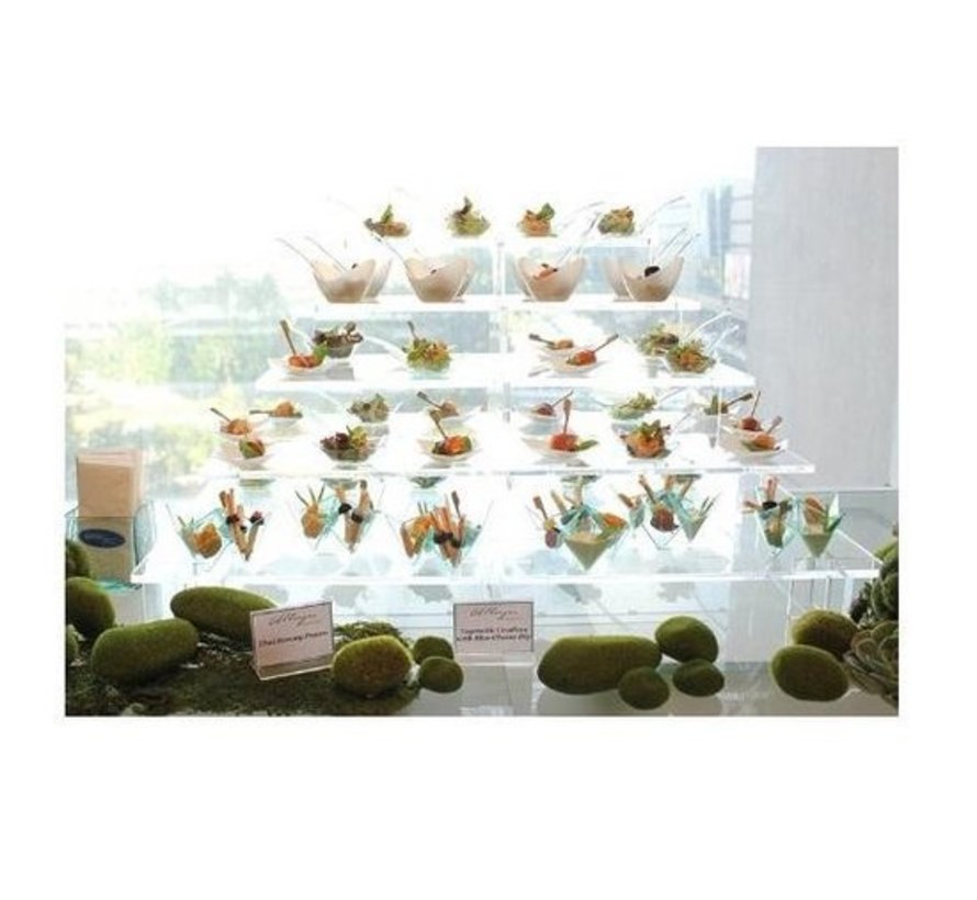 Buffet Display 91 x 48 cm 4 floors | Height 51 cm