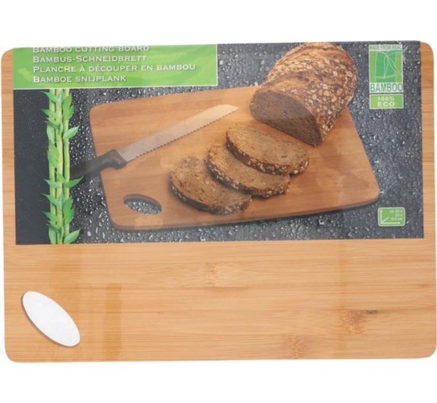 Bambus-Schneidebrett | Holzhacken | 35x25 cm | Koch