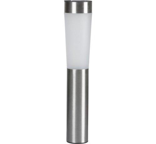 LED RVS grondspie tuinverlichting solar lantaarn 7,5x56cm