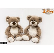 Bear Plush Sitting Brown / Beige 26cm