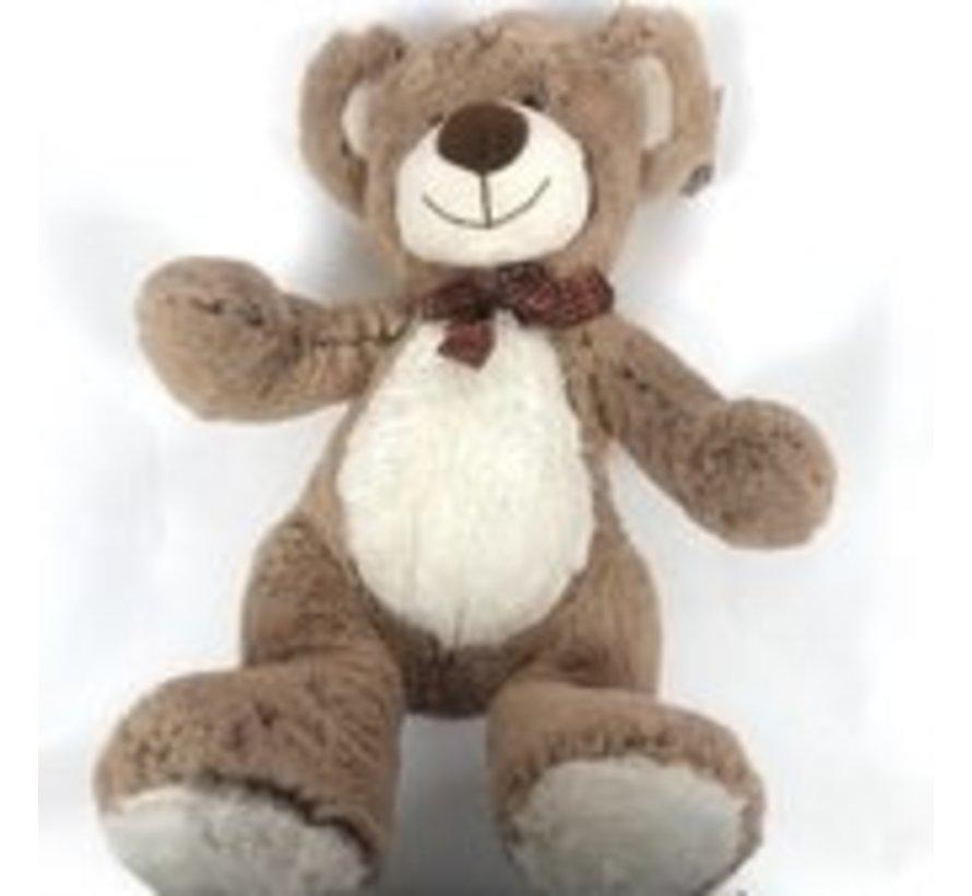 Bear- Sitting - Brown / Beige - 33 cm