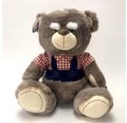 Opa beer knuffel - met mini invulboekje - 40cm