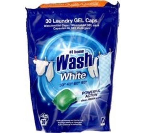 Zu Hause waschen weiß - 30 Flüssigkeit wascapsules