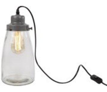 """Van Manen Tischlampe 'growpot""""15x15x32 cm Metall / Glas Silber"""