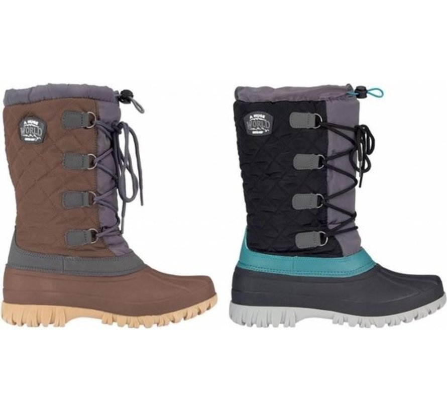 Winter-Grip Snow Boots Sr. - Winter Wanderer - Black / Anthracite / Gray Green - 38