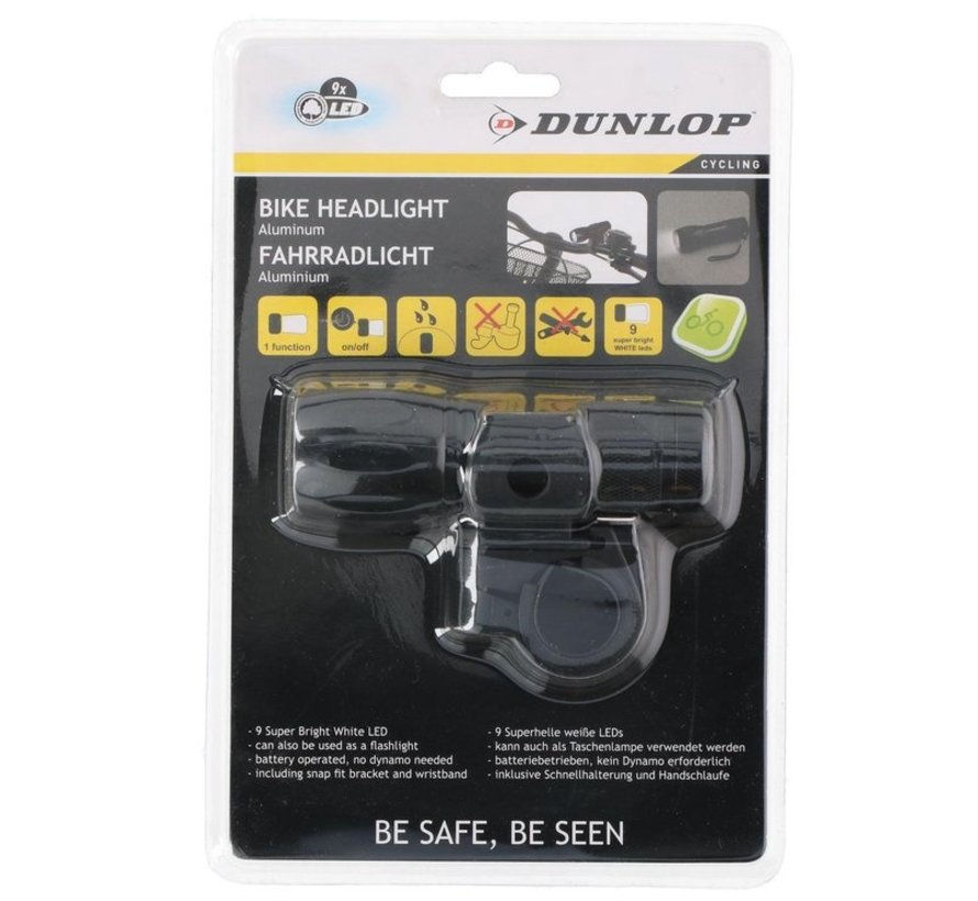 Dunlop - Bike Headlight - Flashlight - LED - black