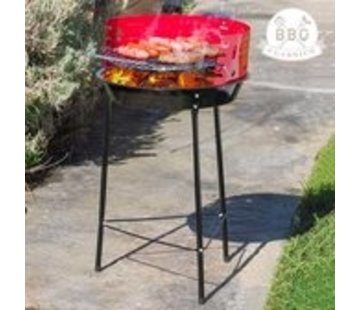 Collection BBQ Charcoal barbecue on legs - Adjustable Grill BBQ - Semi - Ø33 cm - Black / Red