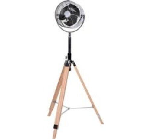 Stand Fan - wood - adjustable