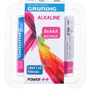 Grundig Grundig Alkaline Batteries Aaa Lr03 8 Pieces