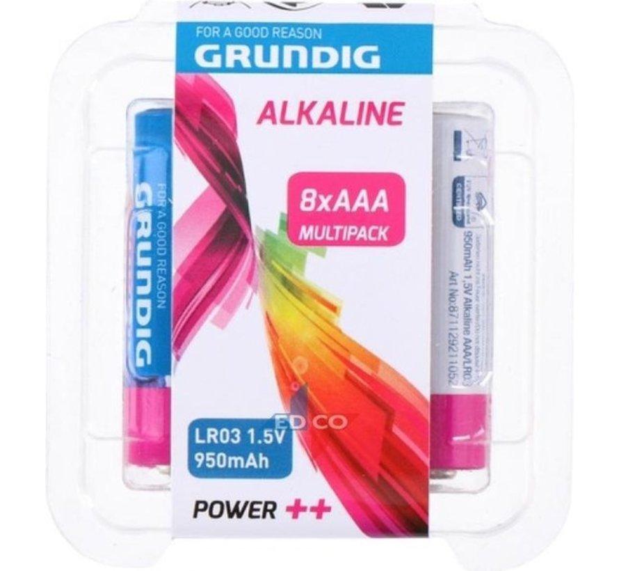 Grundig Alkaline Batterien Aaa LR03 8 Stück