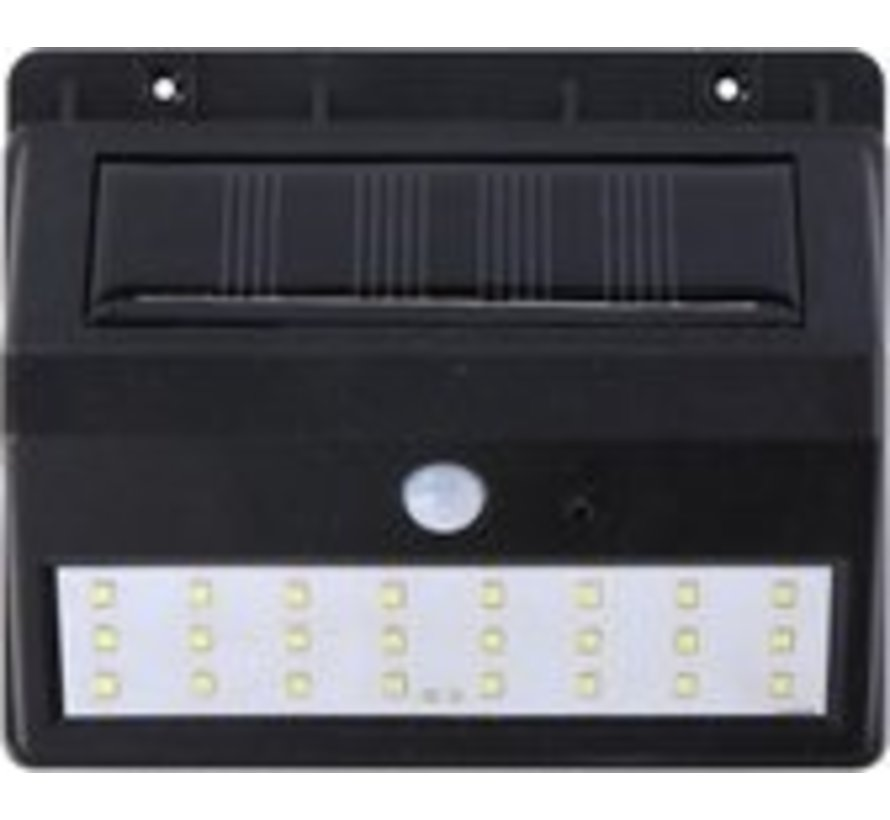 Grundig solar wandlamp - met sensor - voor buiten - 30 lm