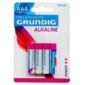 Grundig Grundig - Grundig AAA Batterijen Alkaline 4 Stuks 950mah