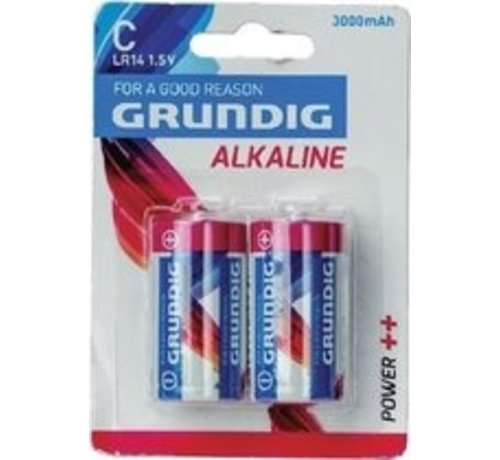 Grundig Grundig - Batterijen - C Alkaline - 2 Stuks 30