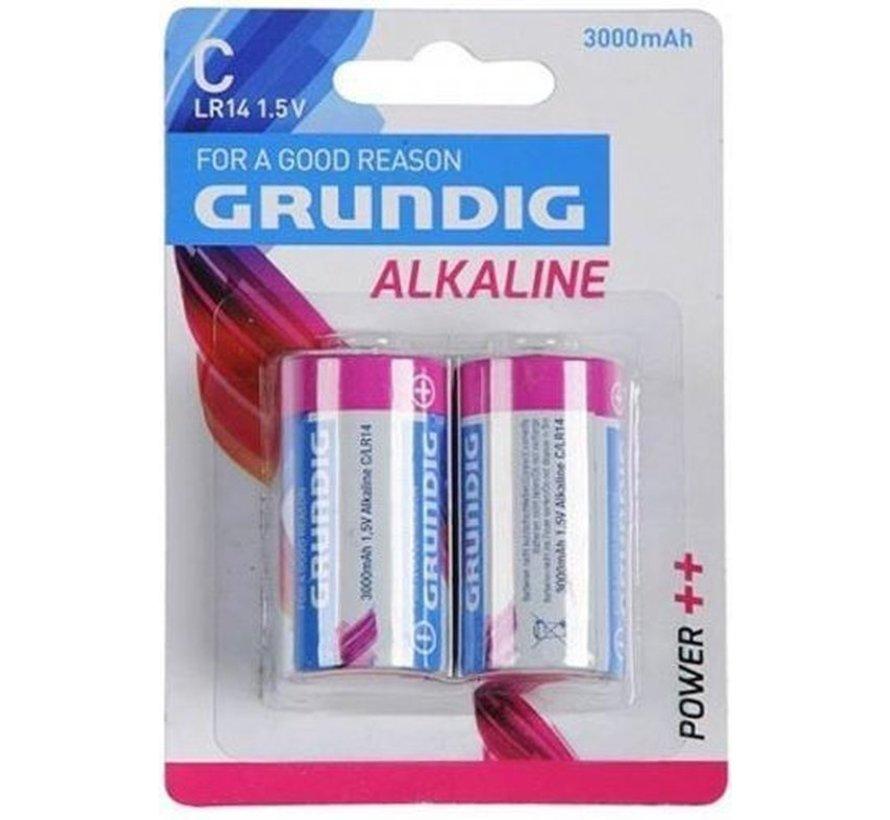 Grundig - Batterijen - C Alkaline - 2 Stuks 30