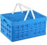Sunware Sunware Square Vouwkrat - Met 2 extra handgrepen & koeltas - 32 l - blauw/wit