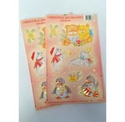 Christmas stickers Penguin Orange 2 sheets