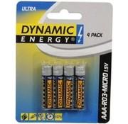 Dynamic Energy Batterijen Ultra R03 Aaa Zink 4 Stuks