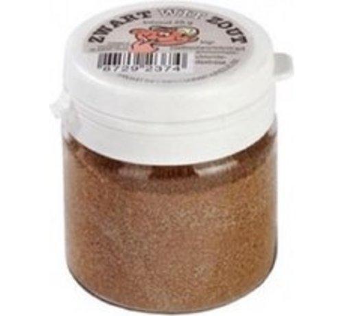 Vliet zwart/wit zout klein 25 gr
