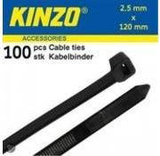 Kinzo Kabelbinders 2.5x120mm zwart 100 stuks