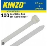 Kinzo Cable 2.5x200mm white 100 pieces