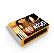Top Line matches 5cm timber white 10 x 40 pieces