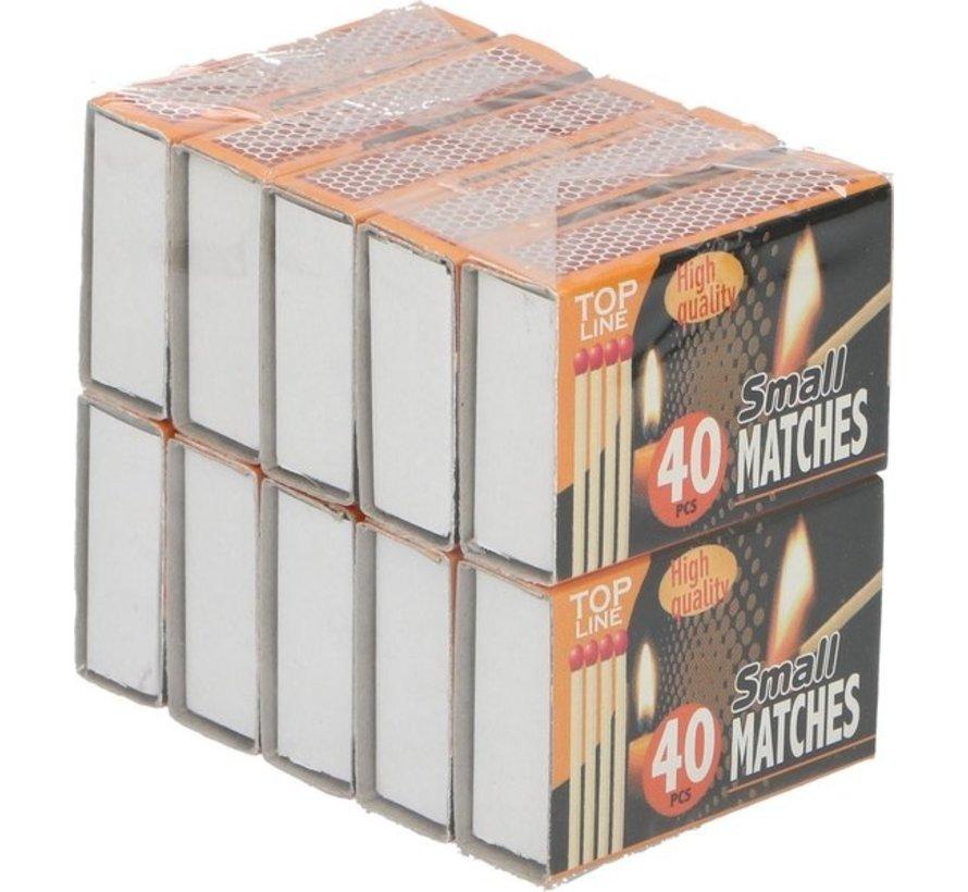 Top Line lucifers 5 cm hout blank 10 x 40 stuks