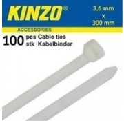 Kinzo Cable 3.6x300mm white 100 pieces
