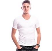 Beeren T-Shirt V-Hals - wit - 100 % katoen - XXL
