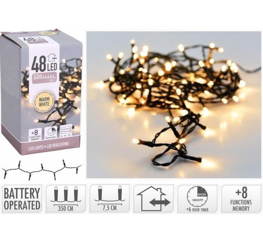 Batterijverlichting 4mtr 48L wwit