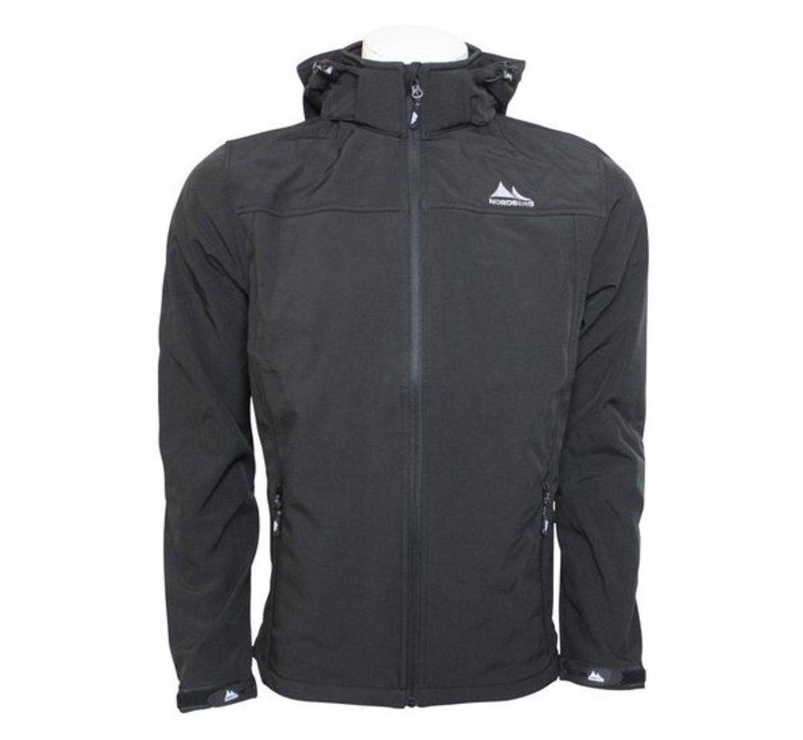 Nord Berg Softshell Jas Sportjas - Maat XL - Mannen - zwart